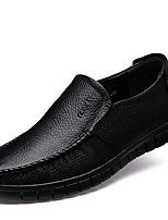 cheap -Men's Leather Shoes Leather / Nappa Leather Spring & Summer / Fall & Winter Business / Casual Loafers & Slip-Ons Breathable Black / Brown
