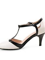Недорогие -Жен. Свиная кожа Весна Милая / Минимализм Обувь на каблуках На шпильке Заостренный носок Черно-белый