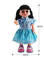 Недорогие -Кукла для девочек Модная кукла Говорящая игрушка Девочки 16 дюймовый Силикон - Smart как живой Дети / подростки Детские Универсальные Игрушки Подарок
