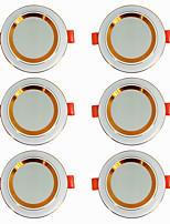 Недорогие -6шт 5 W 360 lm 20 Светодиодные бусины Простая установка Встроенные LED даунлайт Тёплый белый Холодный белый 220-240 V Дом / офис Гостиная / столовая