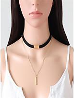 Недорогие -Жен. Цепочка Коричневый Черный 45 cm Ожерелье Бижутерия 1шт Назначение Повседневные фестиваль