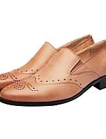 Недорогие -Муж. Комфортная обувь Кожа Весна & осень Мокасины и Свитер Черный / Коричневый / Красный