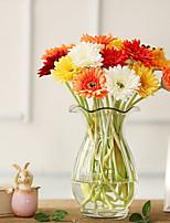 Недорогие -Искусственные Цветы 10 Филиал Классический Сценический реквизит Свадьба Ромашки Букеты на стол