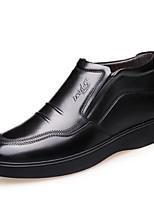 Недорогие -Муж. Комфортная обувь Наппа Leather Зима Мокасины и Свитер Черный