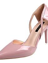 Недорогие -Жен. Полиуретан Весна Обувь на каблуках На шпильке Заостренный носок Желтый / Зеленый / Розовый / Для вечеринки / ужина