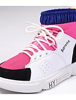 Недорогие -Девочки Обувь Полиуретан Осень Удобная обувь Ботинки для Для подростков Черный / Пурпурный