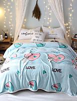 Недорогие -Коралловый флис, Активный краситель Буквы Полиэфир / полиамид одеяла