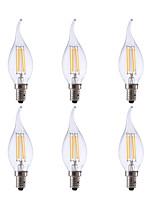 Недорогие -гми 6 шт. светодиодные канделябры лампы ca10 3.5 Вт свеча накаливания лампочка эквивалент 32 Вт с цоколем e12 2700 К старинные люстры декоративные