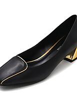 Недорогие -Жен. Полиуретан Весна На каждый день Обувь на каблуках На толстом каблуке Черный