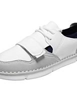 Недорогие -Муж. Комфортная обувь Замша Осень Кеды Белый / Черный / Серый