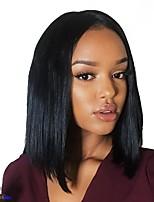 Недорогие -Не подвергавшиеся окрашиванию 360 Лобовой Парик стиль Бразильские волосы Прямой Парик 130% 150% Плотность волос Женский Мода Удобный 100% девственница Нейтральный Жен. Короткие