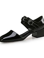 Недорогие -Жен. Лакированная кожа Весна лето Минимализм Обувь на каблуках На толстом каблуке Квадратный носок Черный / Зеленый / Винный