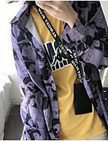 Недорогие -Жен. Рубашка Рубашечный воротник Мультипликация