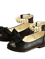 Недорогие -Девочки Обувь Искусственная кожа Весна & осень Удобная обувь На плокой подошве для Дети / Для подростков Черный / Красный