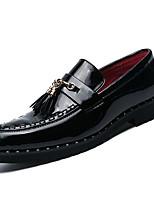 Недорогие -Муж. Комфортная обувь Полиуретан Весна На каждый день Мокасины и Свитер Нескользкий Черный