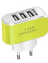 Недорогие -Портативное зарядное устройство / Беспроводное зарядное устройство Зарядное устройство USB Евро стандарт Нормальная 3 USB порта 3.1 A DC 5V для