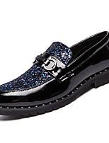 Недорогие -Муж. Комфортная обувь Полиуретан Весна На каждый день Мокасины и Свитер Нескользкий Черный / Синий