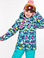 Недорогие -High Experience Мальчики Девочки Лыжная куртка Водонепроницаемость Сохраняет тепло Пригодно для носки Катание на лыжах Сноубординг Зимние виды спорта Полиэфир Polyster Шелковая ткань Верхняя часть