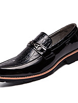 Недорогие -Муж. Комфортная обувь Полиуретан Весна На каждый день Мокасины и Свитер Нескользкий Белый / Черный