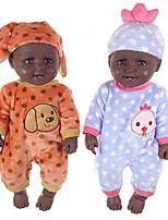 Недорогие -Куклы реборн Мальчики Африканская кукла 20 дюймовый Силикон - как живой Очаровательный Дети / подростки Детские Универсальные Игрушки Подарок