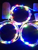 Недорогие -1m Гирлянды 10 светодиоды Декоративная Аккумуляторы 1 комплект