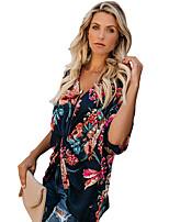 Недорогие -Жен. С принтом Рубашка Классический Геометрический принт