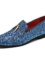 Недорогие -Муж. Обувь для новинок Синтетика Весна & осень На каждый день / Английский Мокасины и Свитер Нескользкий Белый / Синий / Для вечеринки / ужина