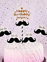 Недорогие -Украшения для торта Классика / Праздник / День рождения Художественные / Ретро / Уникальный дизайн Чистая бумага Для вечеринок / День рождения с Планка 1 pcs Пенополиуретан