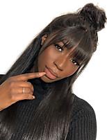 Недорогие -человеческие волосы Remy Необработанные натуральные волосы 360 Лобовой Парик стиль Бразильские волосы Естественные кудри Парик 180% Плотность волос / Природные волосы / Природные волосы