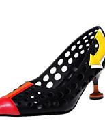 Недорогие -Жен. Наппа Leather Весна Обувь на каблуках На шпильке Белый / Черный