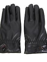 Недорогие -вождение мотоцикла с сенсорным экраном вымытые кожаные теплые перчатки