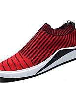 Недорогие -Муж. Комфортная обувь Tissage Volant Весна На каждый день Мокасины и Свитер Дышащий Черный / Серый / Красный