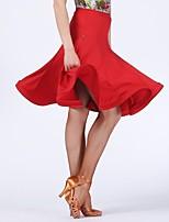 abordables -Danse latine Bas Femme Utilisation Fibre de Lait Ruché Taille basse Jupes