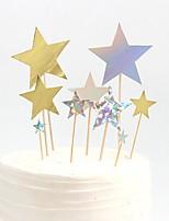 Недорогие -Украшения для торта Классика / Праздник / Свадьба Художественные / Ретро / Уникальный дизайн Чистая бумага Для вечеринок / День рождения с Планка 7 pcs Пенополиуретан