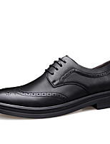 cheap -Men's Leather Shoes Leather / Cowhide Spring & Summer / Fall & Winter Business / Casual Oxfords Breathable Black / Gray