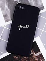Недорогие -Кейс для Назначение Apple iPhone XR / iPhone XS Max С узором Кейс на заднюю панель Слова / выражения Мягкий ТПУ для iPhone XS / iPhone XR / iPhone XS Max