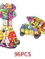 Недорогие -Магнитный конструктор Магнитные плитки 96 pcs Геометрический узор Все Мальчики Девочки Игрушки Подарок