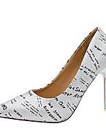 Недорогие -Жен. Полиуретан Весна На каждый день Обувь на каблуках На шпильке Заостренный носок Золотой / Серебряный / Розовый / Лозунг