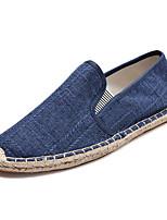 Недорогие -Муж. Комфортная обувь Полиуретан Весна Мокасины и Свитер Серый / Синий / Хаки