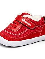 Недорогие -Девочки Обувь Свиная кожа Зима Удобная обувь / Обувь для малышей Кеды для Дети Черный / Красный / Розовый