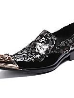 Недорогие -Муж. Официальная обувь Наппа Leather Осень Деловые / Английский Мокасины и Свитер Сохраняет тепло Черный / Красный / Зеленый / Для вечеринки / ужина