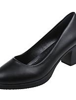 Недорогие -Жен. Полиуретан Весна Минимализм Обувь на каблуках На толстом каблуке Черный