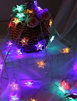 abordables -3M Guirlandes Lumineuses 30 LED Plusieurs Couleurs Décorative Piles AA alimentées 1 set
