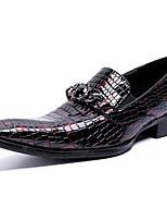 Недорогие -Муж. Официальная обувь Наппа Leather Осень На каждый день / Английский Мокасины и Свитер Сохраняет тепло Винный