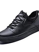 Недорогие -Муж. Комфортная обувь Полиуретан Весна На каждый день Кеды Дышащий Черный / Серый / Коричневый