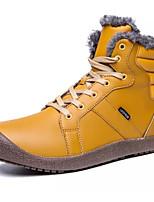 Недорогие -Жен. Полиуретан Зима Ботинки На плоской подошве Сапоги до середины икры Черный / Желтый / Синий