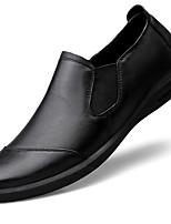 Недорогие -Муж. Кожаные ботинки Наппа Leather Весна & осень На каждый день / Английский Мокасины и Свитер Массаж Черный