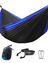 Недорогие -Туристический гамак На открытом воздухе Легкость Пригодно для носки Экранная ткань для 2 человека Походы - Синий