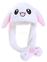 Недорогие -Rabbit шляпа Мягкие и плюшевые игрушки 3D в мультяшном стиле Фланель Все Игрушки Подарок 1 pcs