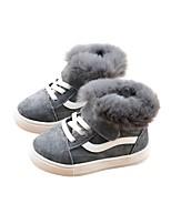 Недорогие -Девочки Обувь Замша Зима Удобная обувь Кеды для Дети Черный / Серый / Розовый